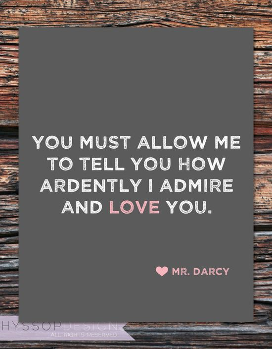 Oooh, Mr. Darcy