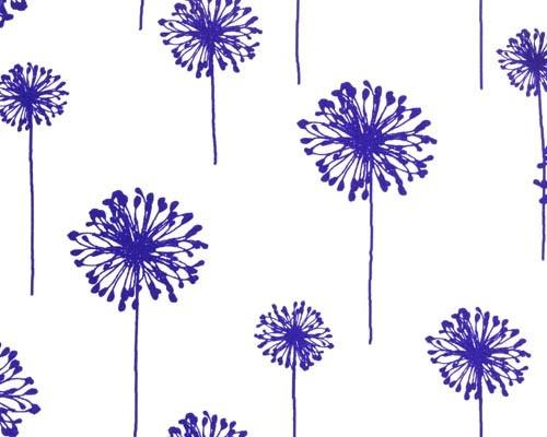 dandelion print cotton fabric