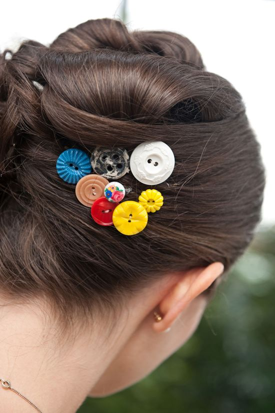 buttons for hair pieces