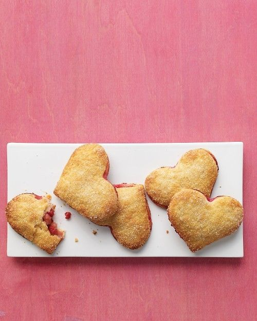 "Pear-raspberry heart pies, from Martha Stewart Living -- Eat Your Books is an indexing website that helps you find & organize your recipes. Click the ""View Complete Recipe"" link for the original recipe."