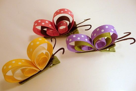 Butterfly hair clips.