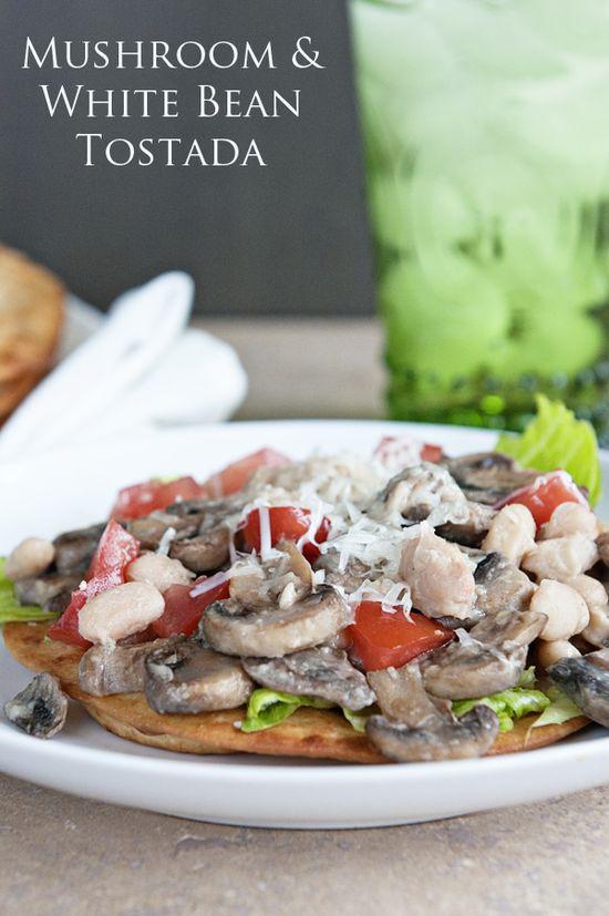 Mushroom Love {Recipe: Mushroom & White Bean Tostada}
