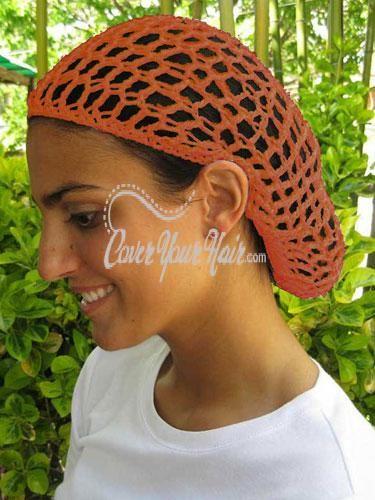 Orange Hair Net Snood