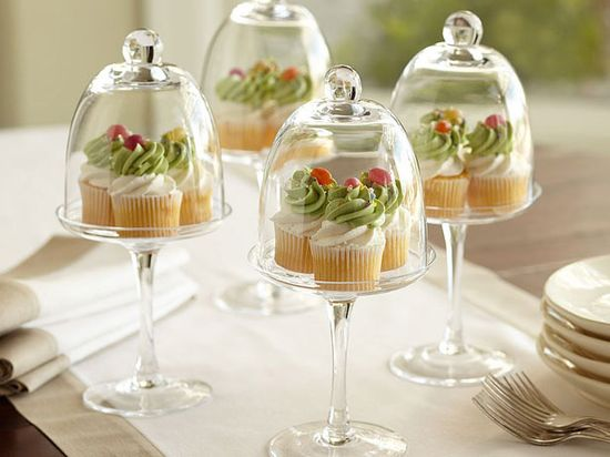 Elegant cupcake display