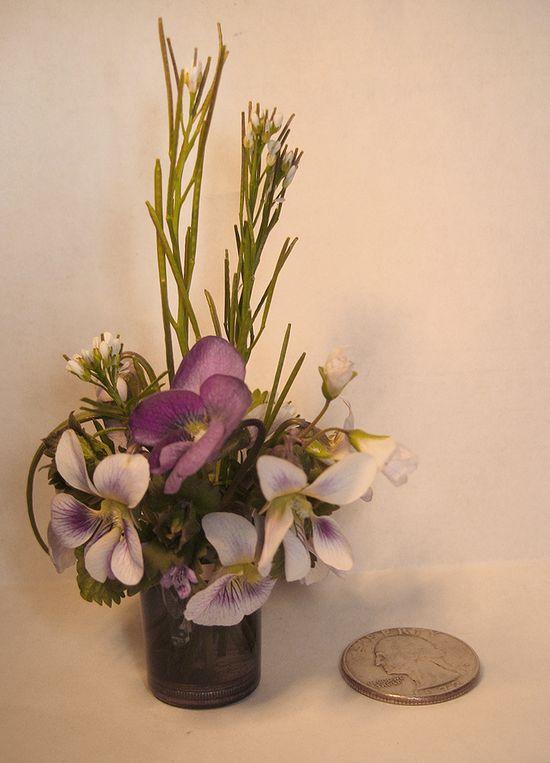 Miniature flower arrangement!