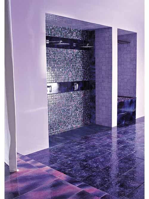 Romantic Purple Bathroom Interior Design by Ceramica Franco Pecchioli