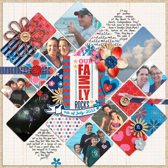 Our family scrapbook page layout