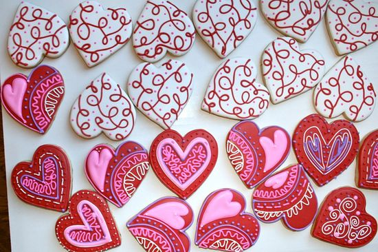 Love the Hearts--by My Cookie Affair, via Flickr