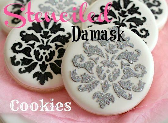DIY Damask Cookies