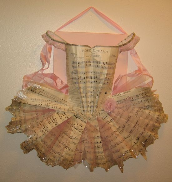 I am in awe of paper creations like this tutu....