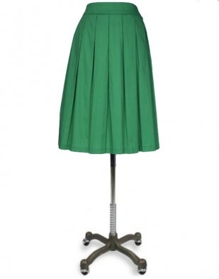 This green modest skirt is adorable :)