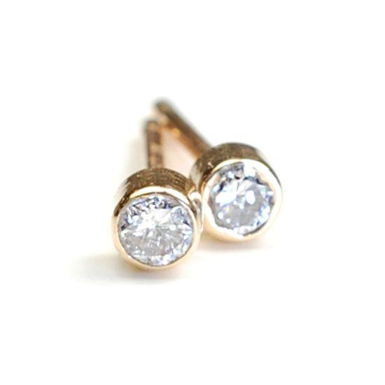 Classic diamond studs.