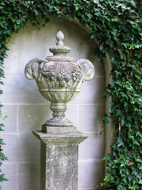 covered urn...