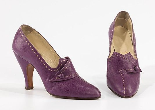 Shoes 1954, Italian, Made of leather
