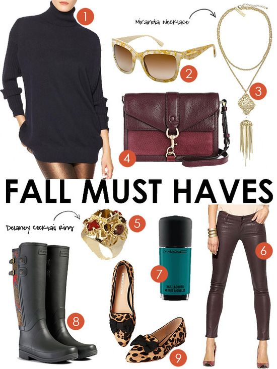 Must-Haves: Fall 2013 Fashion Trends