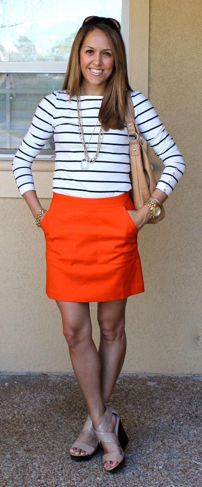 stripes...orange...jewelry...everything!