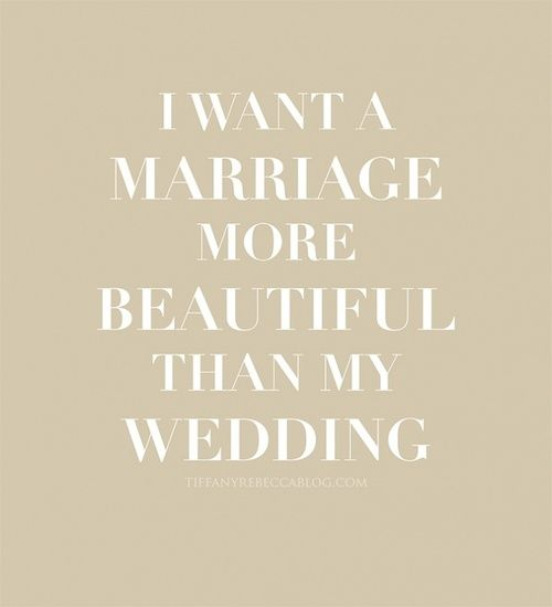 So beautifully said and so true. Wedding is one day and a marriage is the rest of your life. #marriage #wedding