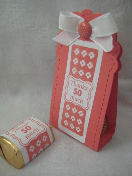Stampin' Up!  Treat Holder  Lisa Lange  Two Tags