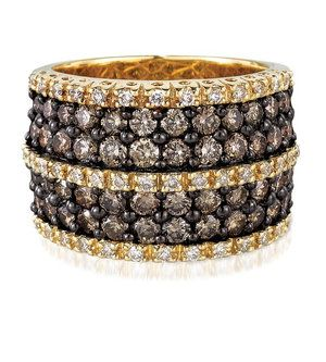Le Vian Chocolate Diamonds Wide Band Ring