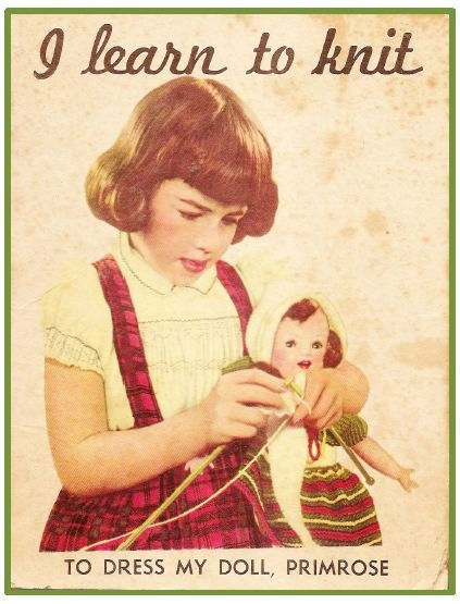 Vintage Doll's Clothes Knitting Pattern by DollysVintageCloset, $3.50   I have this somewhere, my mom got it for me when I was little