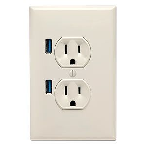 Add USB To Wall Outlets To Charge your phone (7 Ways)