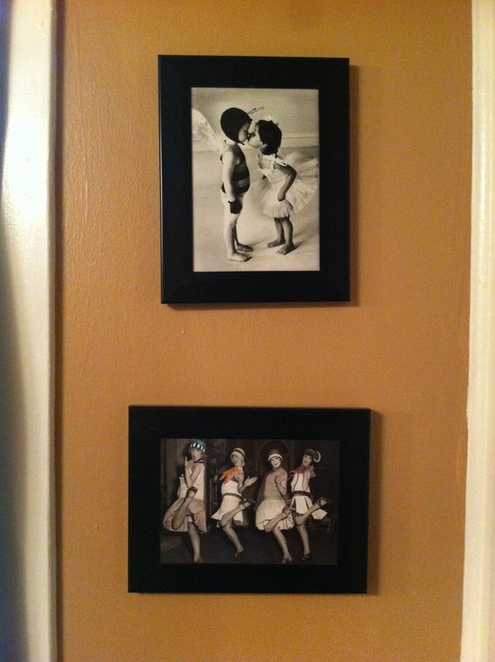 Frame cute and funny greeting cards for inexpensive art work/decor!