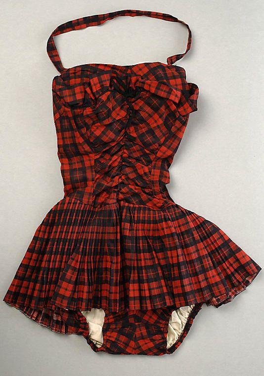 1955-1960 cotton Bathing Suit, American