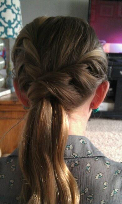 Twisted braid ponytail