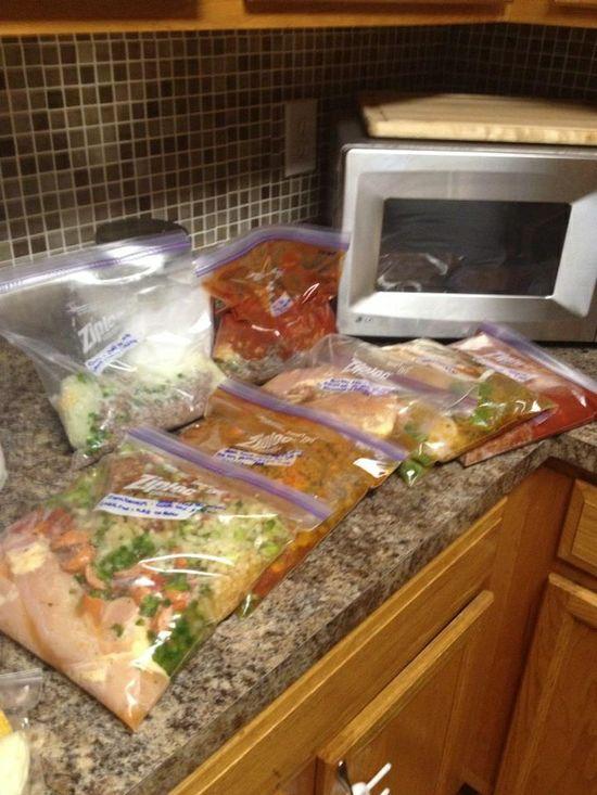 Blog on freezer cooking