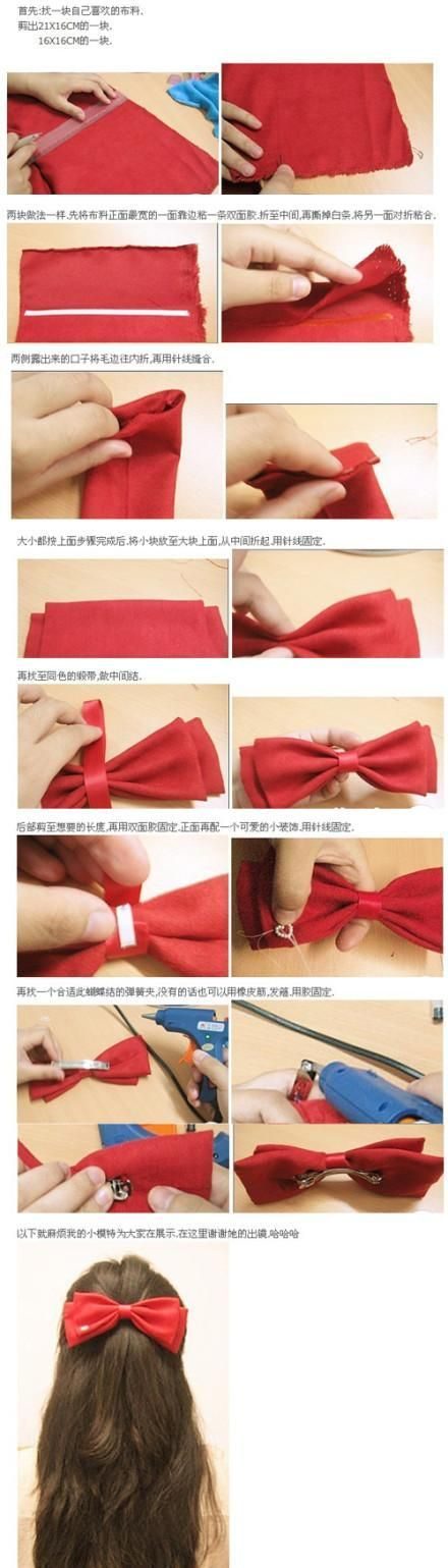 red diy bow