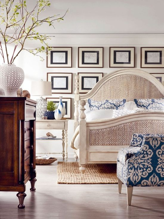 Coastal-Style Bedrooms from HGTV --> www.hgtv.com/...