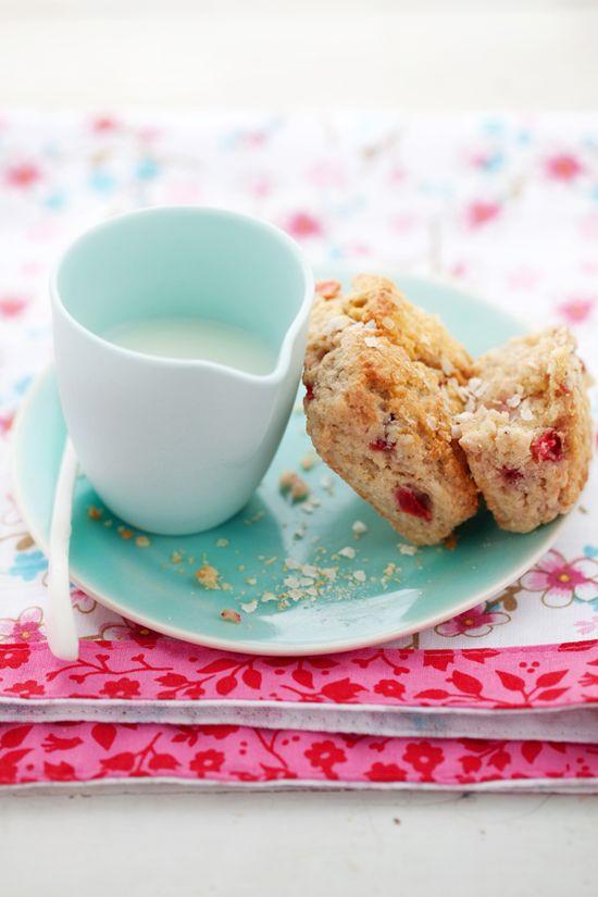 Strawberry and Quinoa Scones #gluten #free #gf