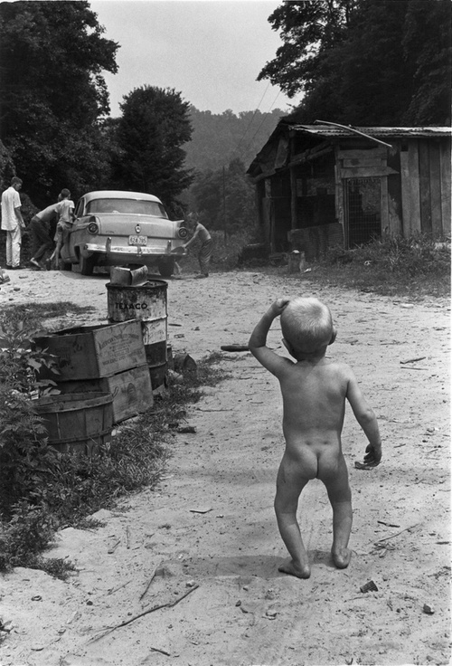 William Gale Gedney Small Boy Walking up Road, Kentucky 1964