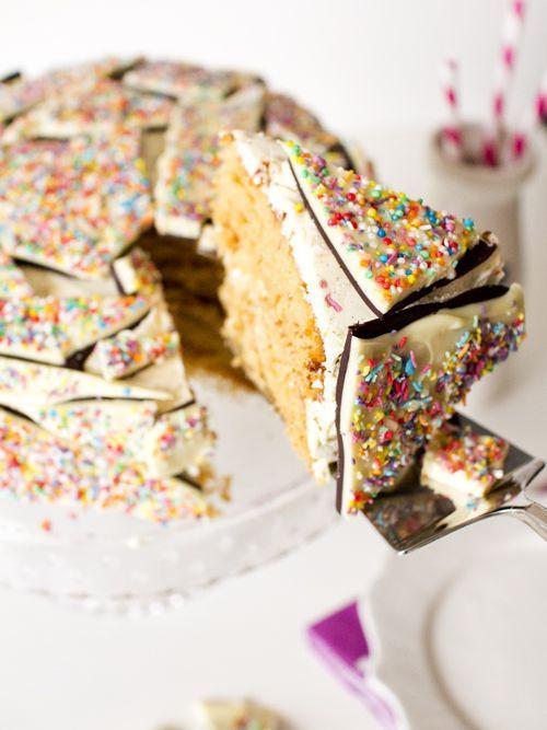 C - Cake: Chocolate Bark Cake #dessert #cake #recipe