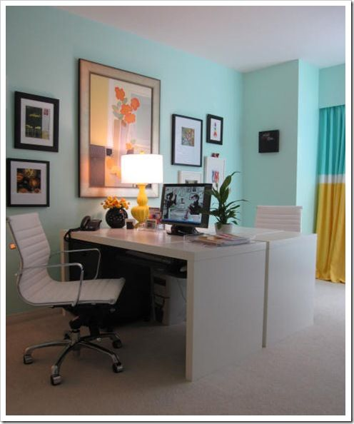 I think I decided on my home office paint color .. Tiffany blue!  how fun!