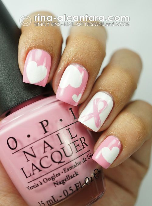 Nail Art for Breast Cancer Awareness  using OPI Pink Friday