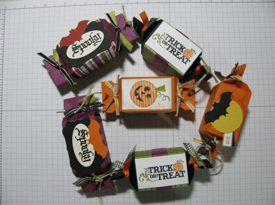 Halloween candy wrappers set