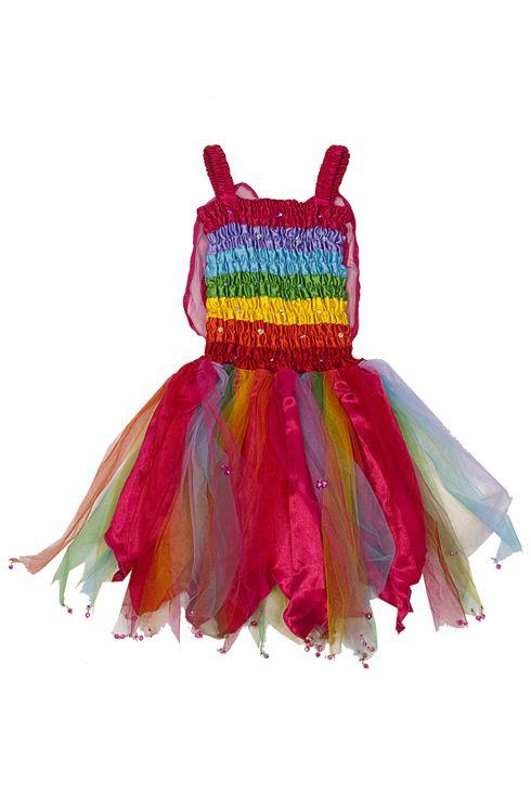 Fairy Girls Rainbow Dress: A twirly dress to love.   #Dress #Girls #Fairy_Dress #Fairy_Girls