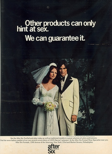 After Six Formals - 1973/ Does that mean they came off easily?