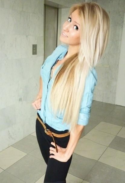 long hair with color