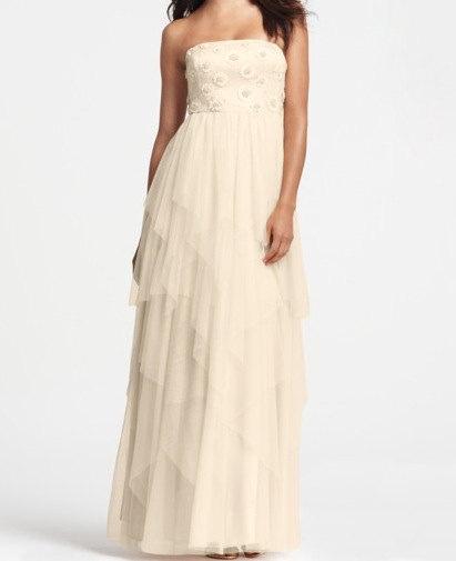 Custom halter White Cream Pink Bride Bridesmaids Wedding Dress Gown S175. $108.00, via Etsy.