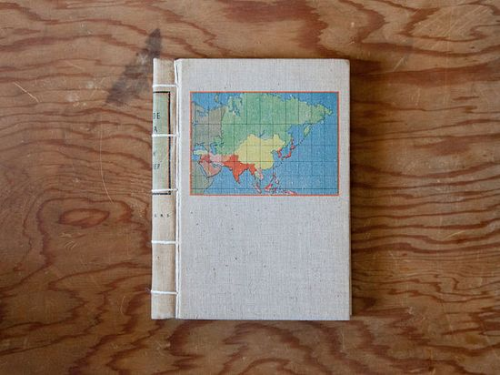 Travel Journal // vintage handmade journal // hard by ericmbaral, $23.00