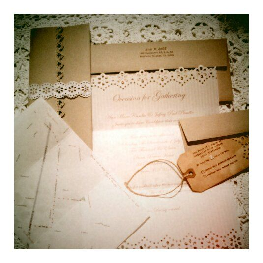 DIY vintage invitation