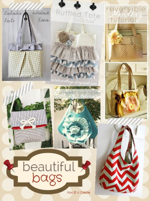 Beautiful Bags Inspiration Board and Tutorials