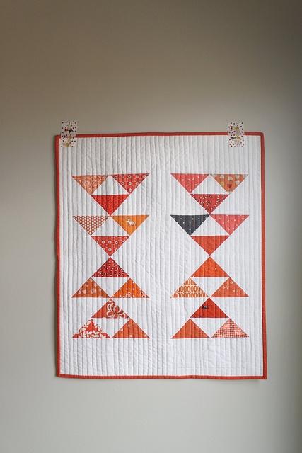 half square triangles and white.