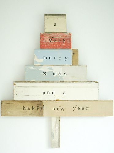 Love this recycled Christmas tree