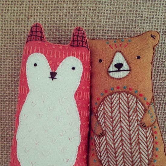 DIY Doll Kits: Fox & Bear - Kiriki Press//