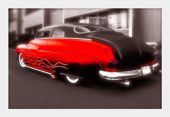 Red Hot Hotrod 1950 Mercury