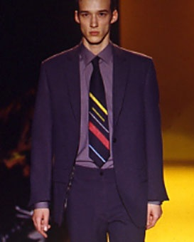 Gene Meyer shirt, tie and suit - fall 1999