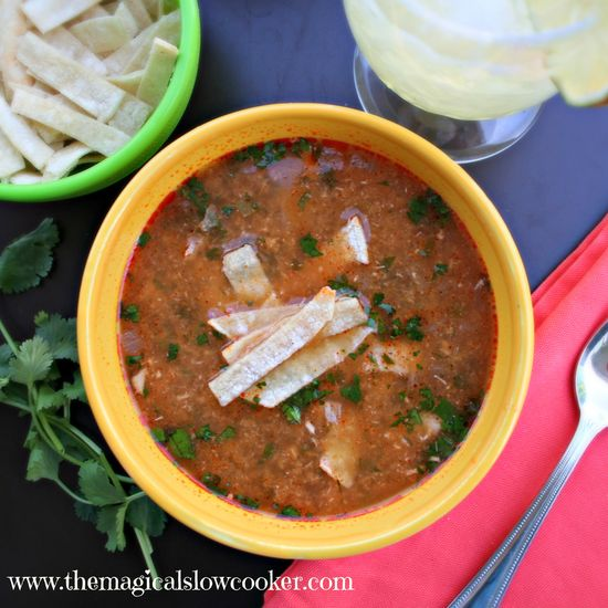 Skinny Slow Cooker Chicken Tortilla Soup themagicalslowcoo...